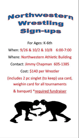 Youth Wrestling Sign Ups