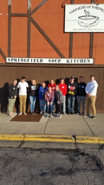 National Honor Society Volunteers at Soup Kitchen