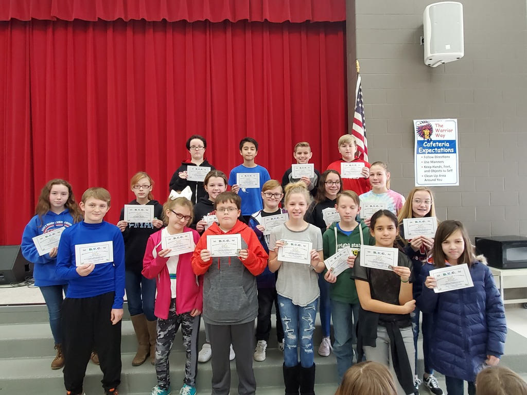 Sixth Grade 2nd Quarter Awards