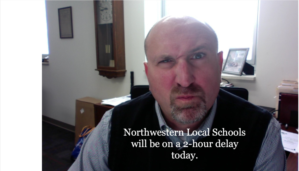 2 hour delay message with an angry face