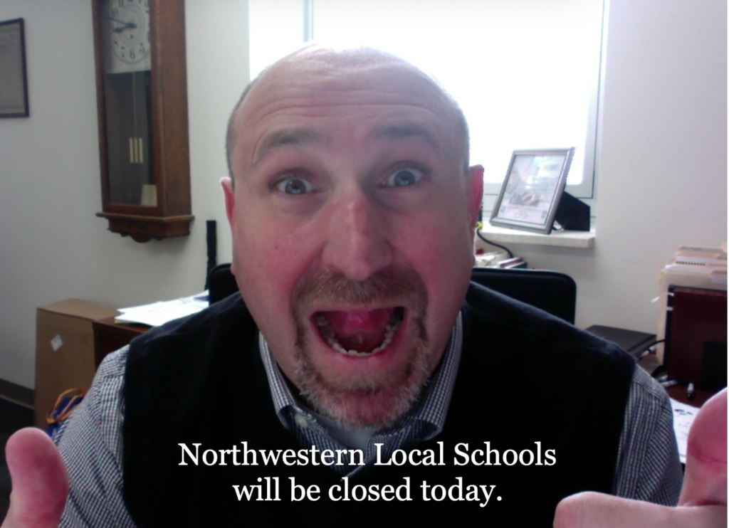 Northwestern Schools are closed today.