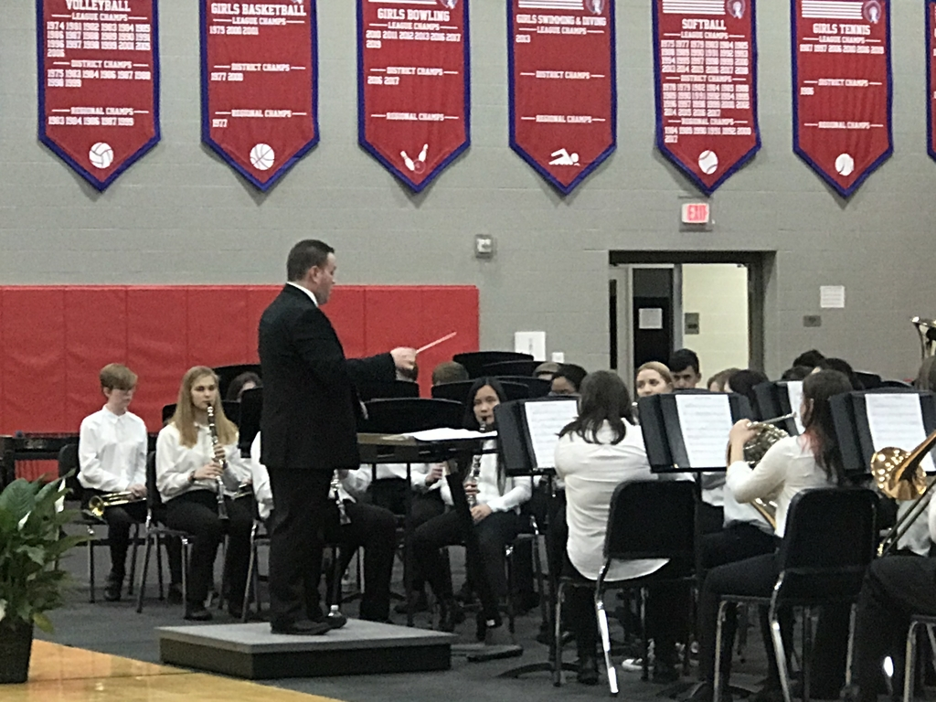 Mr. Mitchell and the symphonic band